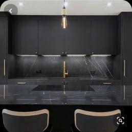 Zwart goud keuken wrap