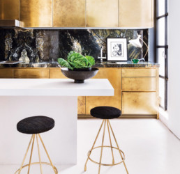 Keuken goud interieurfolie